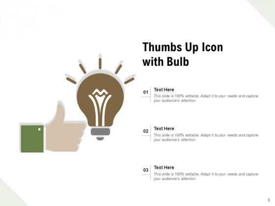 Approval_And_Encouragement_Circle_Bulb_Ppt_PowerPoint_Presentation_Complete_Deck_Slide_6