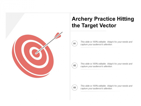 Archery Practice Hitting The Target Vector Ppt PowerPoint Presentation Infographics Microsoft