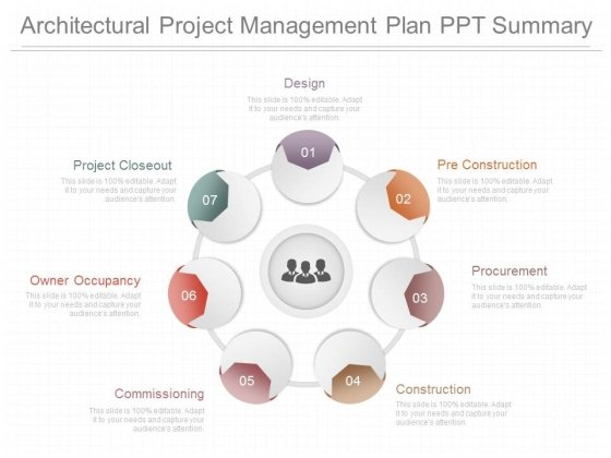 Architectural Project Management Plan Ppt Summary