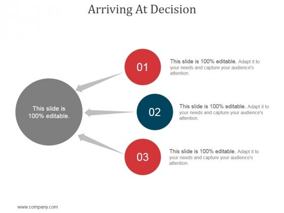 Arriving At Decision Ppt PowerPoint Presentation Templates