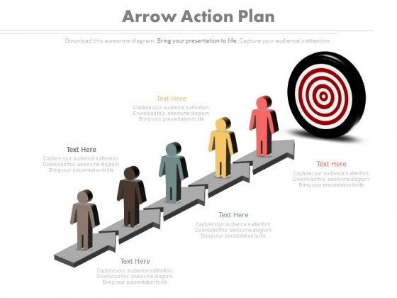 Arrow Action Plan Ppt Slides