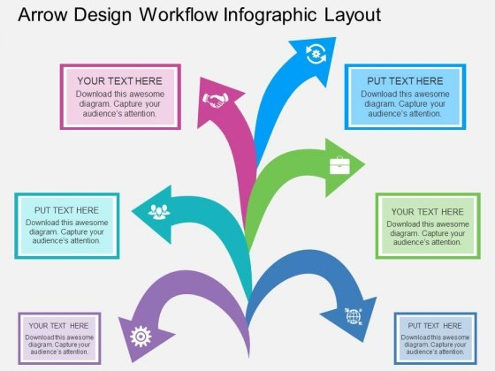 Arrow Design Workflow Infographic Layout Powerpoint Template