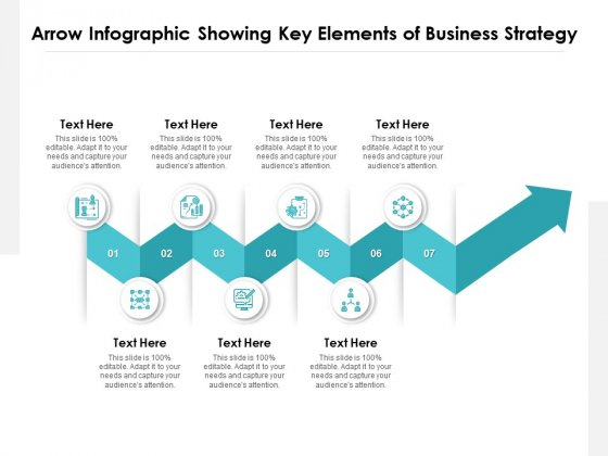 Arrow Infographic Showing Key Elements Of Business Strategy Ppt PowerPoint Presentation Gallery Design Inspiration