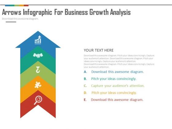 Arrow Infographics For Strategic Analysis Powerpoint Slides