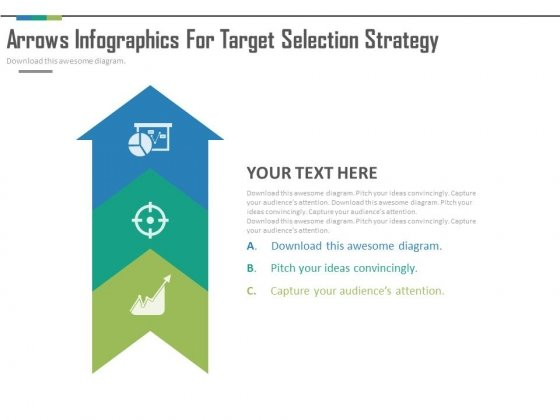 Arrow Infographics With Three Steps Powerpoint Slides