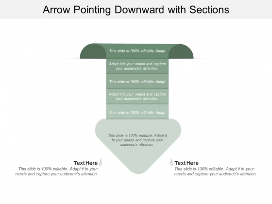 Arrow Pointing Downward With Sections Ppt PowerPoint Presentation Styles Graphics Design