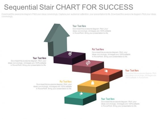 Arrow Steps Chart For Business Success Powerpoint Template