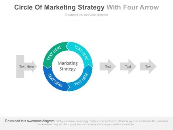 Arrow Steps For Marketing Strategy Circle Powerpoint Template