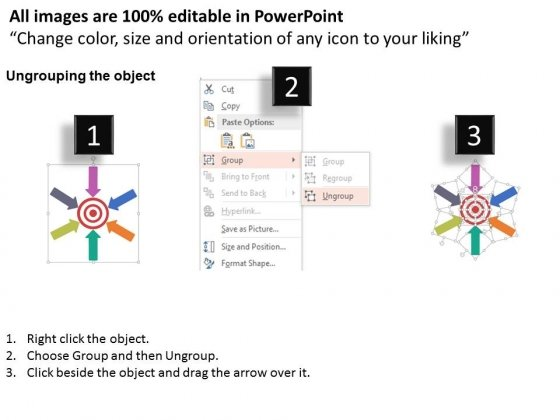 Arrows_Around_Target_For_Strategic_Planning_Method_Powerpoint_Template_2