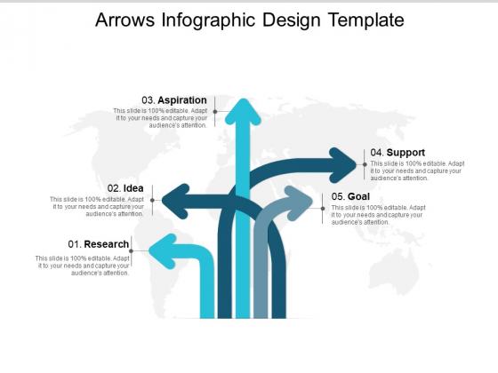 Arrows Infographic Design Template Ppt PowerPoint Presentation Styles Icons