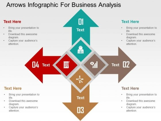 Arrows Infographic For Business Analysis Powerpoint Templates