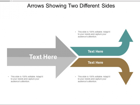 Arrows Showing Two Different Sides Ppt Powerpoint Presentation Professional Pictures