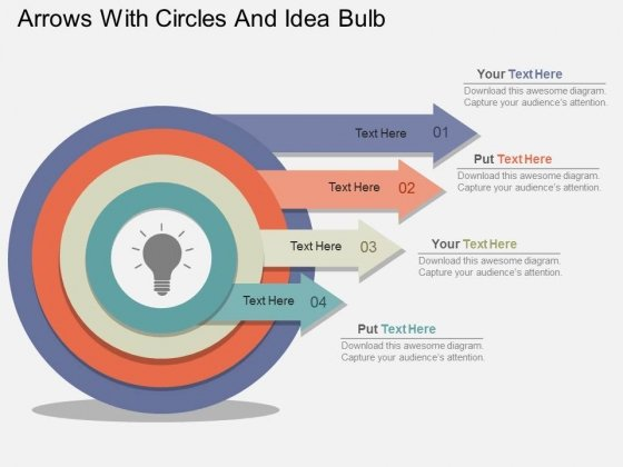 Arrows_With_Circles_And_Idea_Bulb_Powerpoint_Template_1