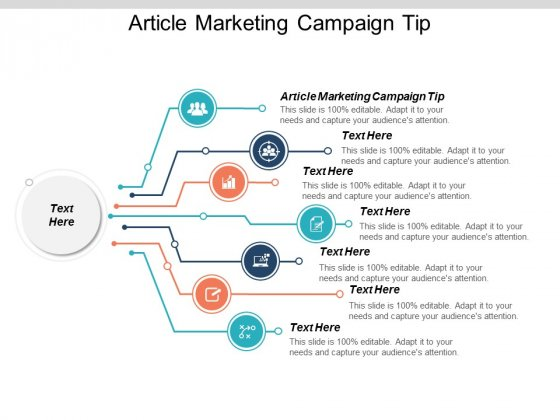 Article Marketing Campaign Tip Ppt PowerPoint Presentation Portfolio Cpb
