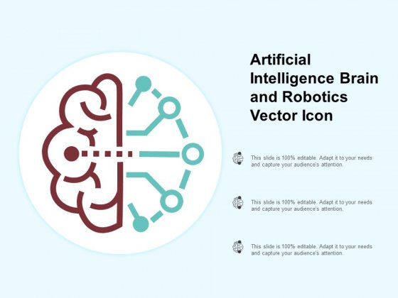Artificial Intelligence Brain And Robotics Vector Icon Ppt PowerPoint Presentation Deck