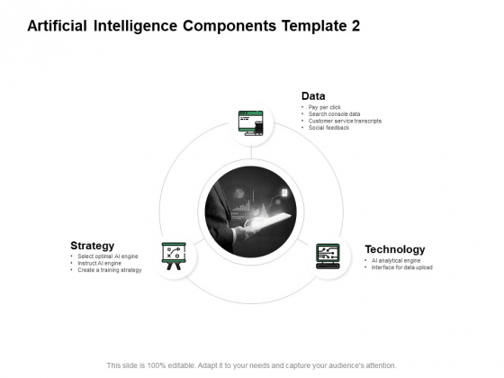 Artificial Intelligence Components Data Technology Ppt PowerPoint Presentation Model Demonstration