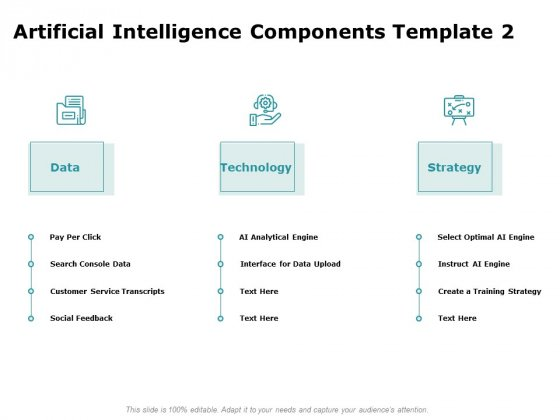 Artificial Intelligence Components Engine Ppt Model Clipart PDF