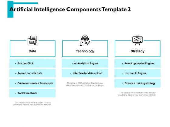 Artificial Intelligence Components Technology Ppt PowerPoint Presentation Model Example