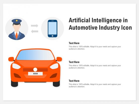 Artificial Intelligence In Automotive Industry Icon Ppt Powerpoint Presentation Summary Slide Powerpoint Templates
