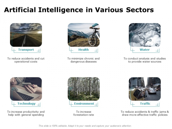 Artificial Intelligence In Various Sectors Ppt Portfolio File Formats PDF