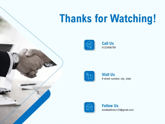 Artificial Surveillance Thanks For Watching Ppt PowerPoint Presentation Model Vector PDF