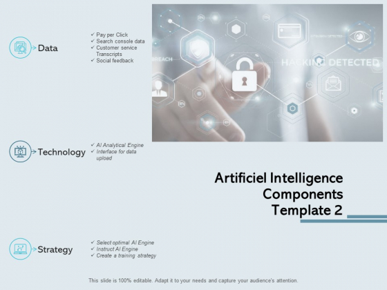 Artificiel Intelligence Components Template Data Ppt PowerPoint Presentation Outline Graphic Images