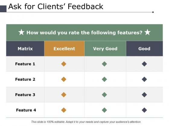 Ask For Clients Feedback Ppt PowerPoint Presentation Ideas Example Topics