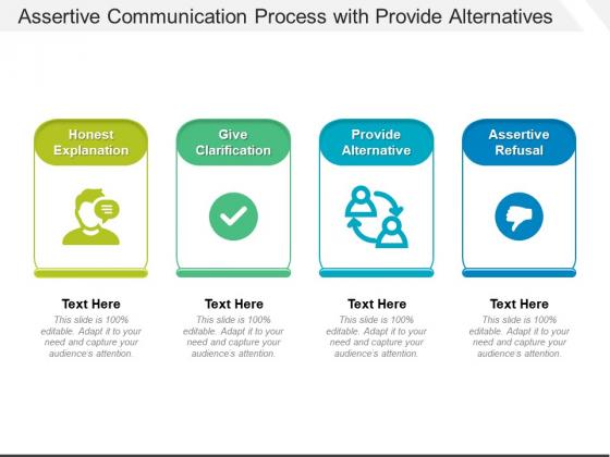 Assertive Communication Process With Provide Alternatives Ppt PowerPoint Presentation File Good PDF