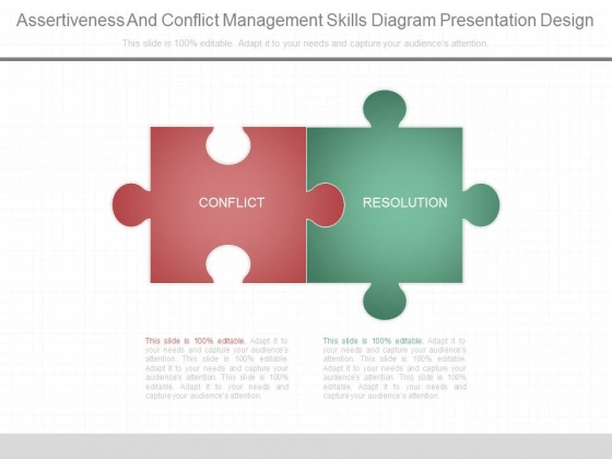 Assertiveness And Conflict Management Skills Diagram Presentation Design