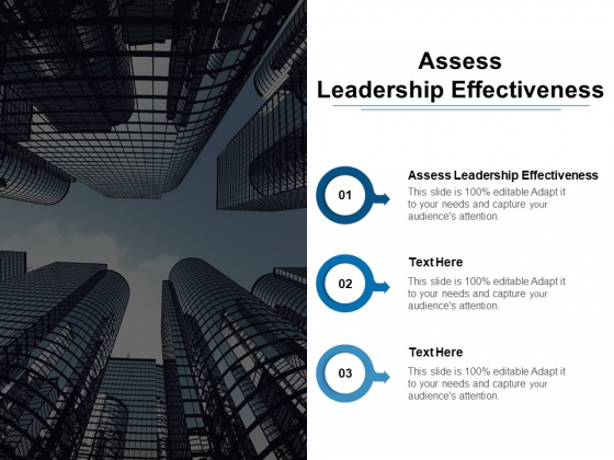 Assess Leadership Effectiveness Ppt PowerPoint Presentation Infographics Templates Cpb