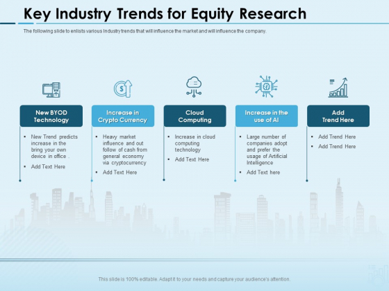 Assessing Stocks In Financial Market Key Industry Trends For Equity Research Ppt PowerPoint Presentation Show Templates PDF