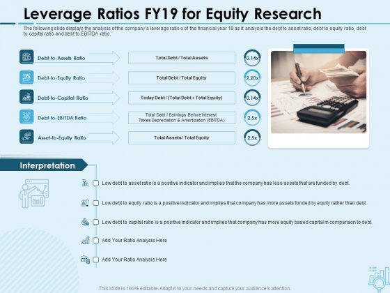 Assessing Stocks In Financial Market Leverage Ratios FY19 For Equity Research Ppt PowerPoint Presentation Visual Aids Files PDF