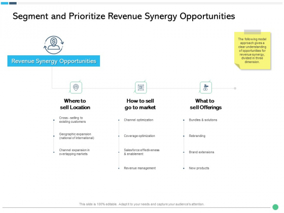 Assessing Synergies Segment And Prioritize Revenue Synergy Opportunities Ppt PowerPoint Presentation Infographic Template Portfolio PDF