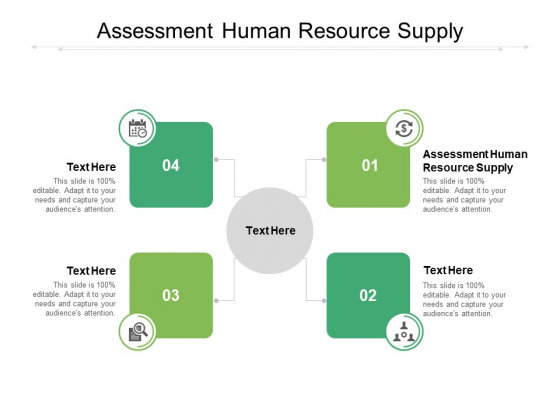Assessment Human Resource Supply Ppt PowerPoint Presentation Summary Graphics Design Cpb