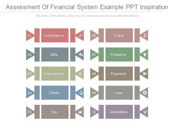 Assessment Of Financial System Example Ppt Inspiration