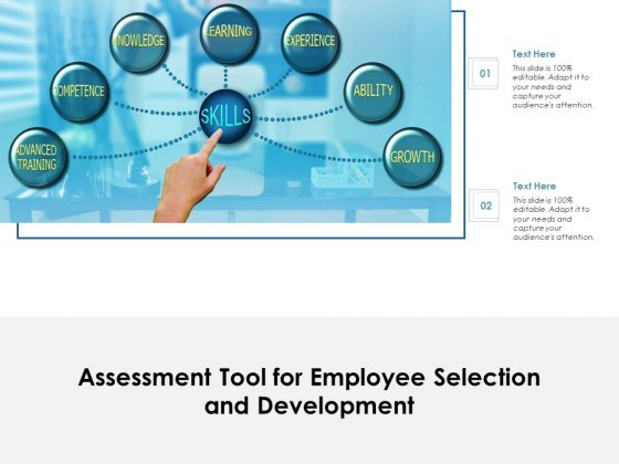 Assessment Tool For Employee Selection And Development Ppt PowerPoint Presentation Professional Information PDF