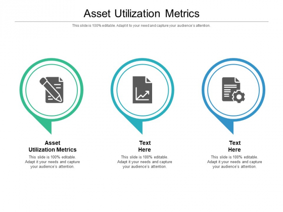 Asset Utilization Metrics Ppt PowerPoint Presentation Portfolio Gridlines Cpb