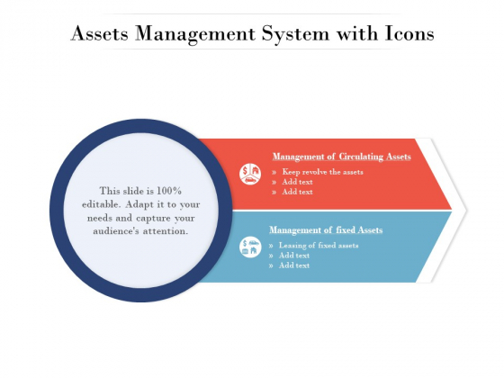 Assets Management System With Icons Ppt PowerPoint Presentation Model Introduction PDF