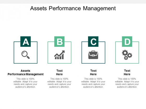 Assets Performance Management Ppt PowerPoint Presentation Layouts Slideshow Cpb
