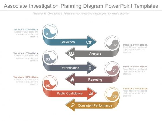 Associate Investigation Planning Diagram Powerpoint Templates