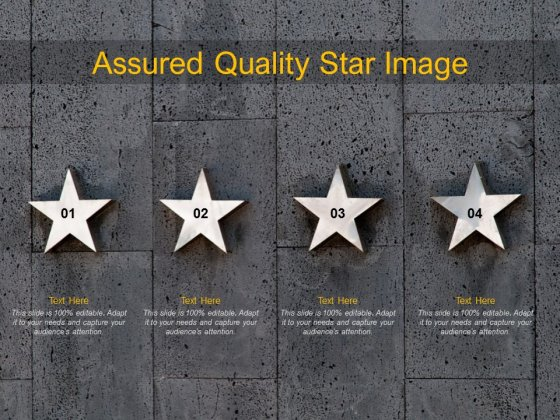 Assured Quality Star Image Ppt PowerPoint Presentation Gallery Template
