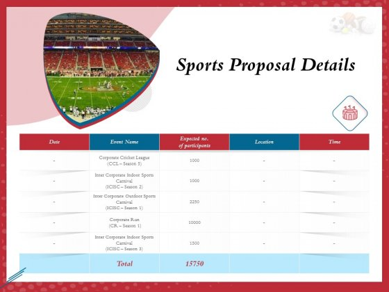 Athletics Sponsorship Sports Proposal Details Ppt PowerPoint Presentation Gallery Background Image PDF