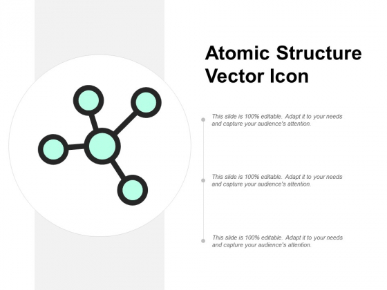 Atomic Structure Vector Icon Ppt PowerPoint Presentation Styles Show