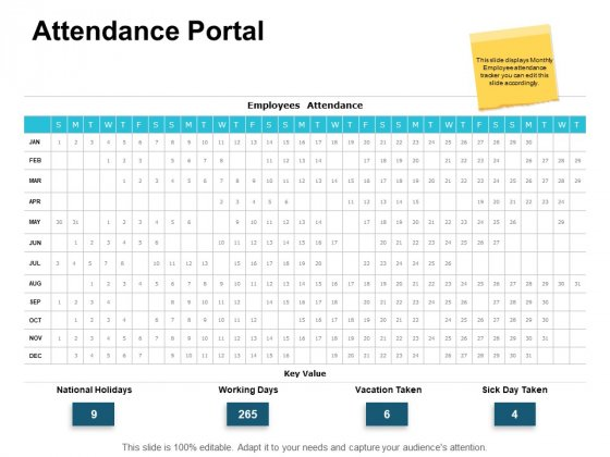 Attendance Portal Marketing Ppt PowerPoint Presentation Inspiration Maker