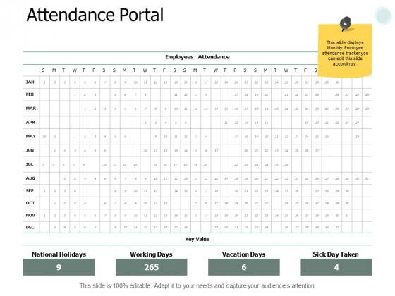 Attendance Portal Planning Ppt PowerPoint Presentation Show Ideas
