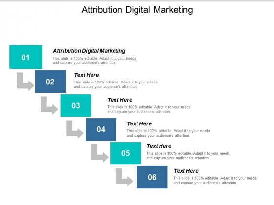 Attribution Digital Marketing Ppt PowerPoint Presentation Professional Inspiration Cpb