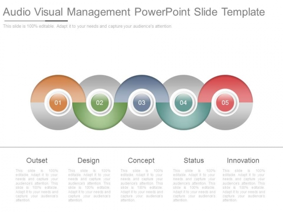 Audio Visual Management Powerpoint Slide Template