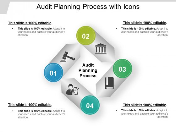Audit Planning Process With Icons Ppt PowerPoint Presentation Show Vector