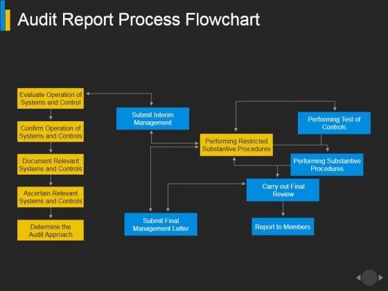 Audit Report Process Flowchart Ppt PowerPoint Presentation Show Design Ideas