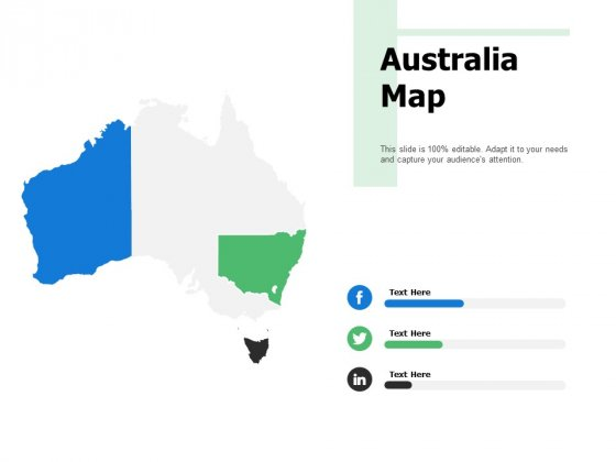 Australia Map Ppt PowerPoint Presentation Layouts Icon